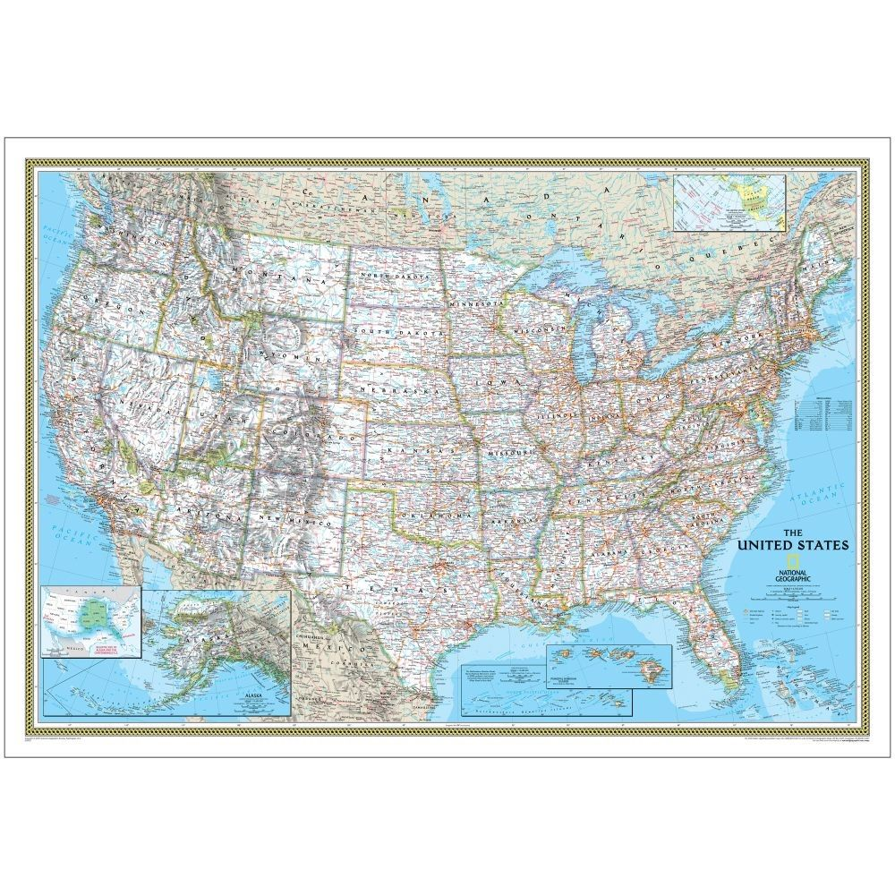 paper map of the united states USA Classic Map   Standard Paper 30